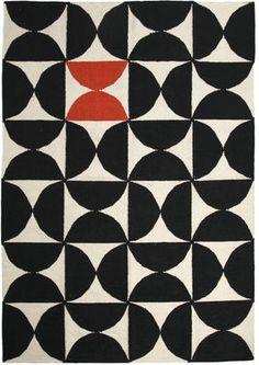 Tapis Alpha Kilim / 200 x 300 cm Rouge / Noir & blanc - Sentou Edition - Décoration et mobilier design avec Made in Design