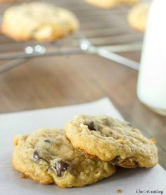 Almond Joy Cookie Recipe - soft, buttery chocolate chip cookies with almond and coconut   http://www.ihearteating.com   #dessert