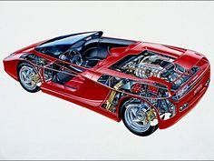 Ferrari Mythos (Pininfarina), 1989 - Cutaway