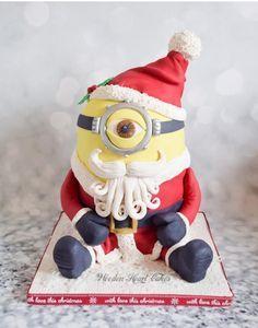 Santa Minion!  by Wooden Heart Cakes