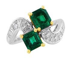 Colombian Emerald Bypass Ring