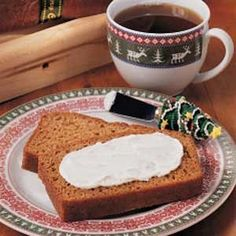 Gingerbread Loaf>>> this is not your classic dark, soft ginger bread but I really liked it!