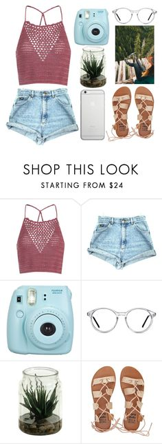 """""""calling"""" by polysetter-862 ❤ liked on Polyvore featuring Glamorous, Fujifilm, GlassesUSA, Billabong and Native Union"""