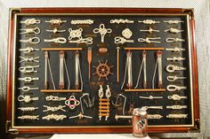 "This is a new large nautical knot board with a lot of character. It measures 23.5"" high and 35.5"" in width.                                                                                                                                                     More"
