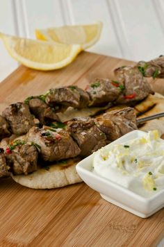 I could never get tired of souvlaki, tsatsiki and some pita bread on the side.