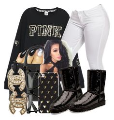 """""""Untitled #645"""" by chynaloggins ❤ liked on Polyvore featuring MCM, UGG Australia and Chanel"""