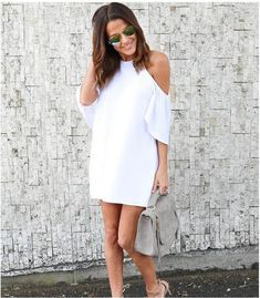 Off Shoulder Chiffon Maternity Dress - Various Colors Stylish Maternity, Maternity Dresses, Stylish Pregnancy, Party Dresses For Women, Casual Summer Dresses, Fashion 2017, Cold Shoulder Dress, Chiffon, White Dress