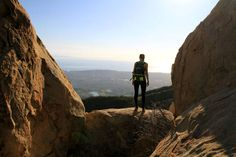 Testing out the Roxy Outdoor Fitness line in Santa Barbara at Cathedral Peak. Talk about Cardio!!