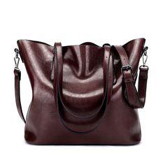 2017 designer brand women handbags vintage pu leather shoulder bag messenger bags for lady big tote bolsos mujer sac a main Hobo Handbags, Shoulder Handbags, Hobo Purses, Travel Handbags, Satchel Purse, Tote Bag, Crossbody Bags, Leather Crossbody, Burgundy Bag