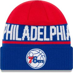 23022e7f264 New Era Philadelphia Youth Royal Chilled Cuffed Knit Hat. NBA Caps   Hats