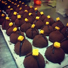 Chocolate temptations, ready to fill the Lemonis bakery vitrines. Cause #fresh and #handmade are our trademark qualities.