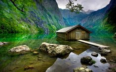 """***The Obersee in German means – """"Upper Lake"""", it is located in Berchtesgaden National Park which is in southern Germany. The lake has crystal clear water and it is surrounded by mountains not too far from the Austrian border."""