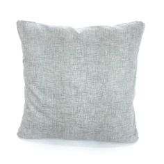 40x40cm 100/% Cotton Silver Grey Tom Lawrence Cushion Pillow Available with or without filling pad Cover and filling pad