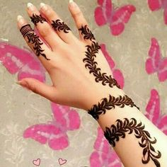 Simple and easy Arabic mehndi Designs for hands Latest Arabic Mehndi Designs, Mehndi Designs For Girls, Mehndi Designs For Beginners, Modern Mehndi Designs, Mehndi Design Photos, Mehndi Designs For Fingers, Beautiful Henna Designs, Latest Mehndi Designs, Bridal Mehndi Designs