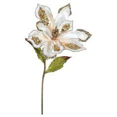 """22"""" Christmas Velvet Magnolia Rose Gold 3 ct : Target"""