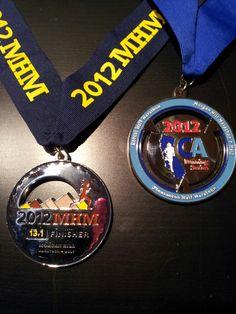 2012 Morgan Hill Marathon & CA Running Series dual medal!