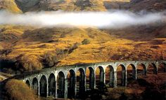 Glenfinnan Viaduct (made famous by the Hogwarts Express journey)