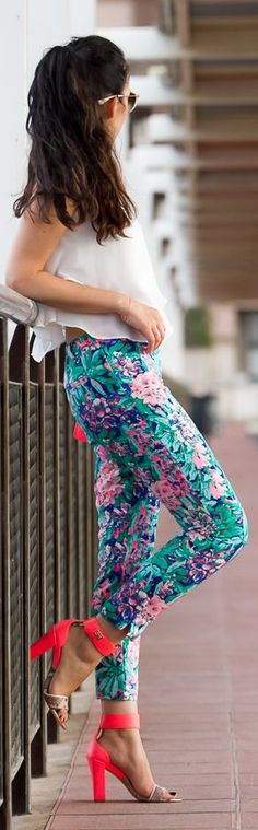 137 Best Floral pants images | Floral pants, Fashion, Style