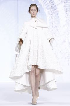 Ralph & Russo Couture Spring Summer 2016 Paris...Love It. Imagine a simple but elegant wedding dress under this jacket. The imagination & budget are the only limitations.