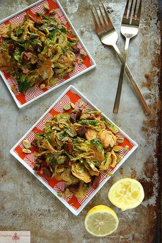 Shredded Brussels Sprouts with Chorizo and Paprika by Heather Christo, via Flickr