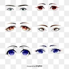 Various Emotional Expressions Eyes Png And Vector Cute Animal Drawings Kawaii Eyes Clipart Hand Painted Cat