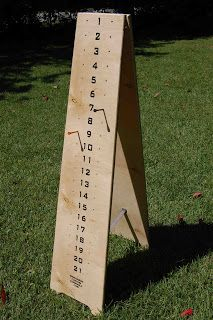Cornhole scoreboard - All About Garden