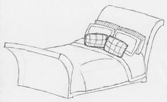 """sleigh bed... this bed's headboard and footboard are curved outward to resemble a sleigh (hence """"sleigh"""" bed)"""