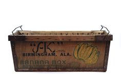 Vintage Banana Crate / Vintage Banana Box by HuntandFound on Etsy, $225.00