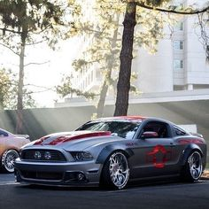 Mustang Cars : Illustration Description Mustang by Mandeep Chase on P51 Mustang, Widebody Mustang, Ford Mustang Shelby Gt500, Mustang Cars, Custom Muscle Cars, Custom Cars, Us Cars, Sport Cars, Modified Cars