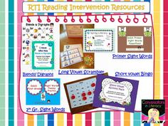 Conversations in Literacy: RTI Intervention Lesson Plans