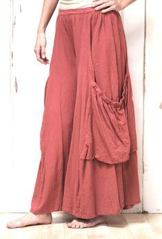 Oh My Gauze Cotton Lagenlook Palazzo Pocket Pant