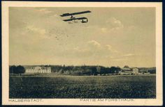 """German Empire Picture Postcards - """"Halberstadt. Partie am Forsthaus."""", postcard 1918, real used, bit spotty"""