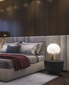 Portfolio: Apartment with Burj Khalifa view Modern Luxury Bedroom, Luxury Bedroom Design, Master Bedroom Interior, Modern Master Bedroom, Home Room Design, Master Bedroom Design, Luxurious Bedrooms, Home Bedroom, Interior Design Living Room