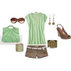 """""""Green and Brown"""" by sapple324 on Polyvore"""
