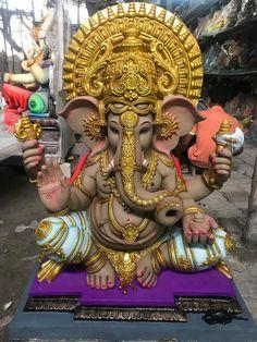 Ganesha Drawing, Lord Ganesha Paintings, Ganesha Art, Clay Ganesha, Shri Ganesh Images, Ganesha Pictures, Ganesh Pooja, Shree Ganesh, Ganesh Bhagwan