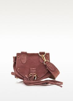 SEE BY CHLOÉ Collins Small Suede Crossbody Bag. #seebychloé #bags #canvas #crossbody #lining #shoulder bags #suede #hand bags #