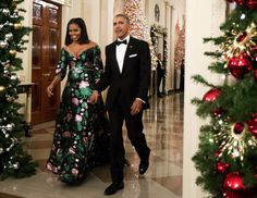 Michelle Obama did festive style right in a breathtaking emerald green gown at the First Family's final Kennedy Center Honors on Sunday.