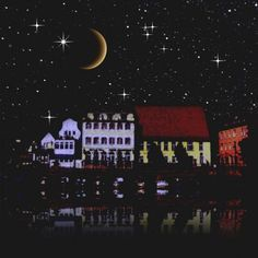 'Night sky above the village.' by Bernd Vagt on artflakes.com as poster or art print $16.63