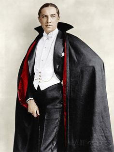 Bela Lugosi dressed in costume for his role in the Broadway play, 'Dracula,' 1927-1928 Photo at AllPosters.com