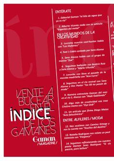 Índice Gaman Magazine 4