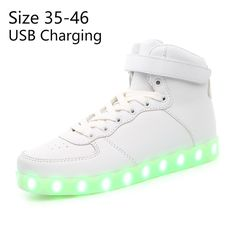 KRIATIV Basket led Usb children light up shoes Luminous Sneakers tenis Led Slippers do with Lights Up glowing sneakers Led Shoes