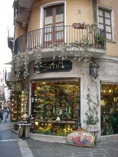 Along Corso Umberto - Taormina, Sicily, Italy