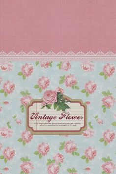 Vintage Flowers Pattern Sign  #iPhone #4s #wallpaper
