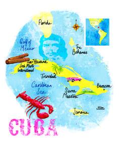 Cuba map by Scott Jessop, September 2015 issue