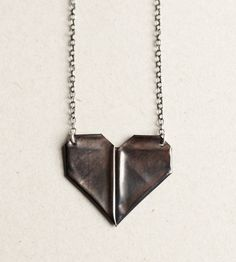Folded Heart Necklace