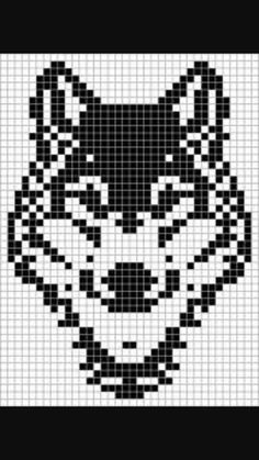 Thrilling Designing Your Own Cross Stitch Embroidery Patterns Ideas. Exhilarating Designing Your Own Cross Stitch Embroidery Patterns Ideas. Crochet Chart, Filet Crochet, Pixel Art Loup, Bead Loom Patterns, Beading Patterns, Knitting Charts, Knitting Patterns, Cross Stitch Charts, Cross Stitch Patterns