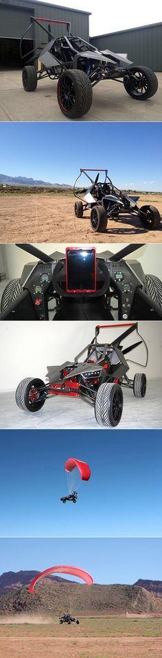 6 Pictures of the Batmobile-Inspired SkyRunner, an All-Terrain Flying Vehicle - TechEBlog