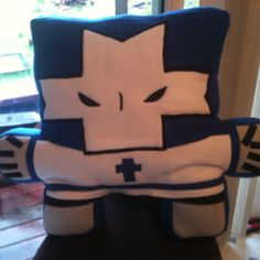 Castle Crasher - Blue Knight Pillow (toonypillowplushies@gmail.com)