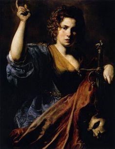 Valentin de Boulogne, Judith, 1626-1628, huile sur toile, 97 x 74 cm, Toulouse, Musée des Augustins.