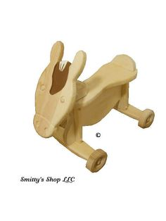 Toddler ride on toy solid wood Horse ©